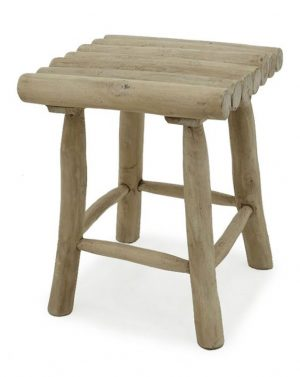 Italy Wooden Teak Branch Stool