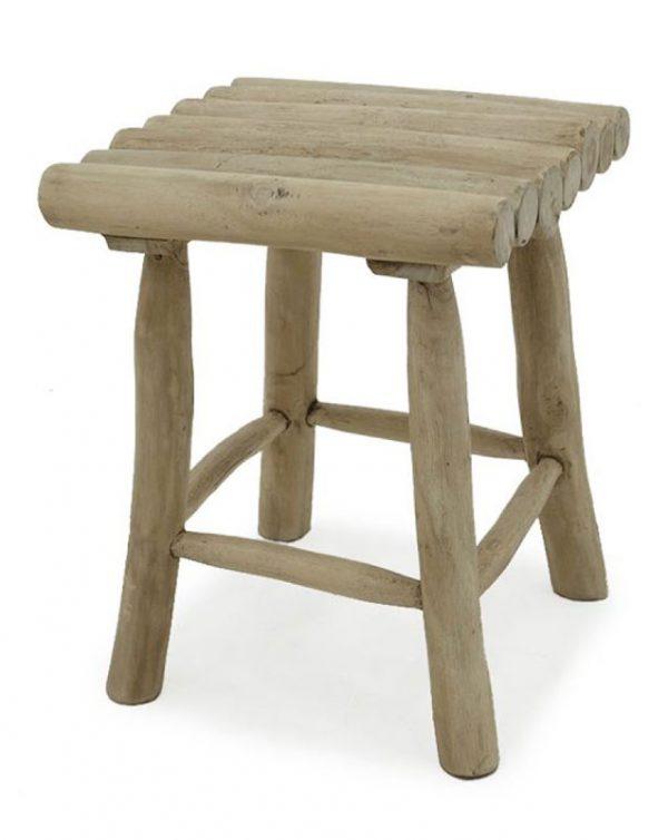 Italy Wooden Teak Branch Stool