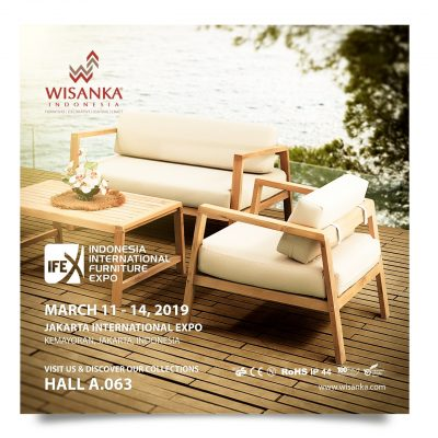 Wisanka Indonesia IFEX 2019 Outdoor Living Set Furniture 400x400